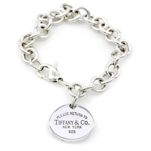 74921cbf8 Tiffany & Co. Return to NY Round Tag Silver Bracelet