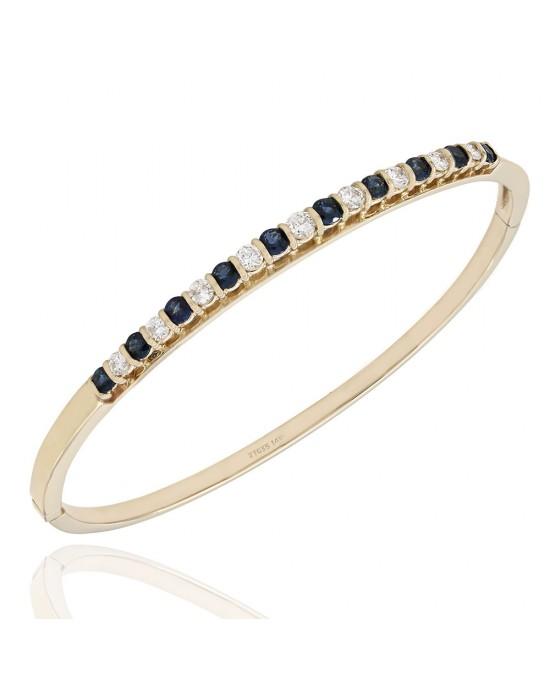 Diamond Bangle Bracelet 1.00ctw Baguette
