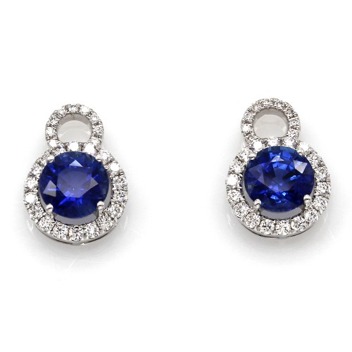 d897cb6ee33 Sapphire and Diamond Earring Charms in Gold