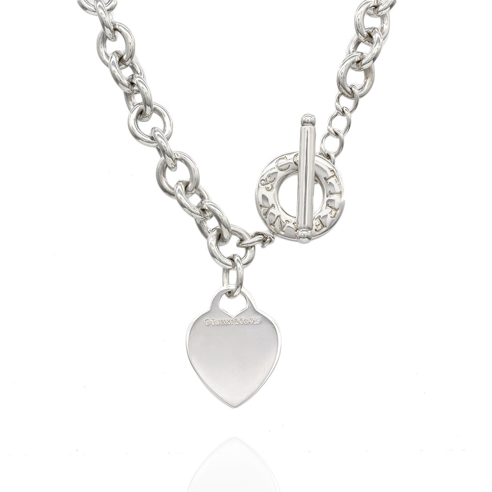 Tiffany Heart Toggle Necklace In Silver