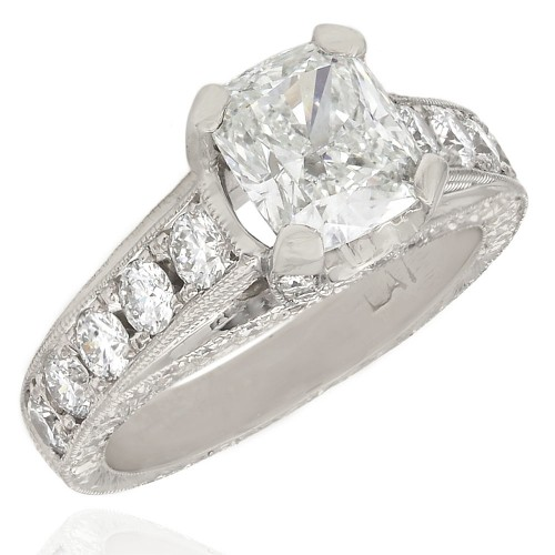 00cd44dd2 Diamond Engagement Ring Mounting in Platinum