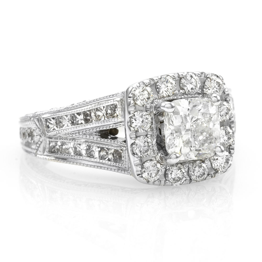 9f7692dd7598a6 Neil Lane Pave Diamond Engagement Ring in 14K White Gold