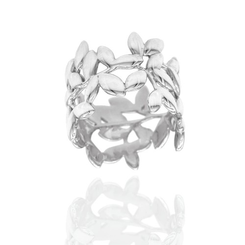 5d1768a15 Tiffany Paloma Picasso Olive Leaf Band Ring in Silver