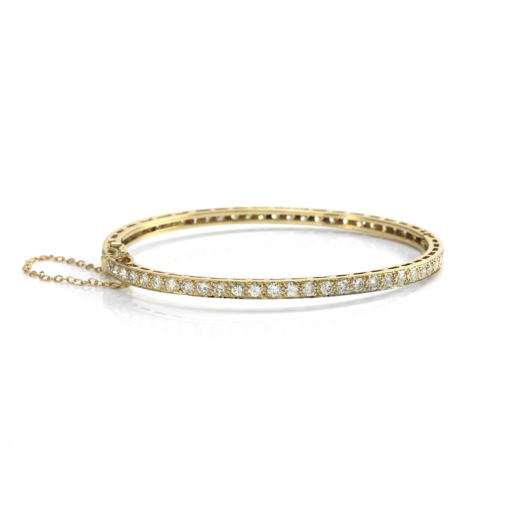 Diamond Eternity Bangle Bracelet in Gold